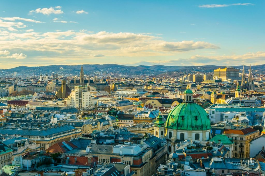 Vienna from Sky